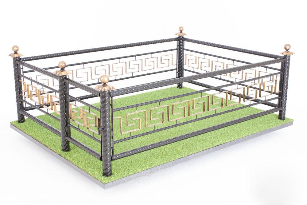 Ограда Память 028 с патинированием