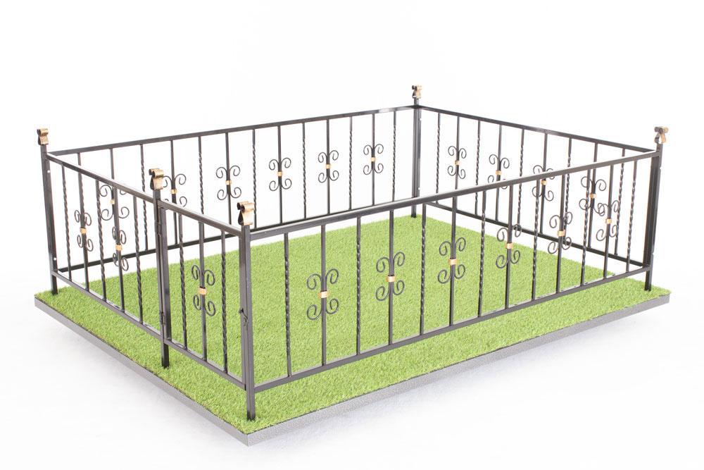 Ограда Память 4 с патинированием